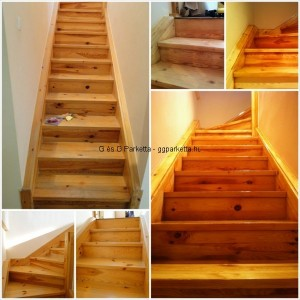 Lépcső csiszolása, építése